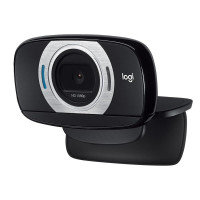 Logitech C615 Full HD 1080p Webcam with Fast Autofocus, Fold-and-Go Portability and 360-Degree Swivel Design - Black
