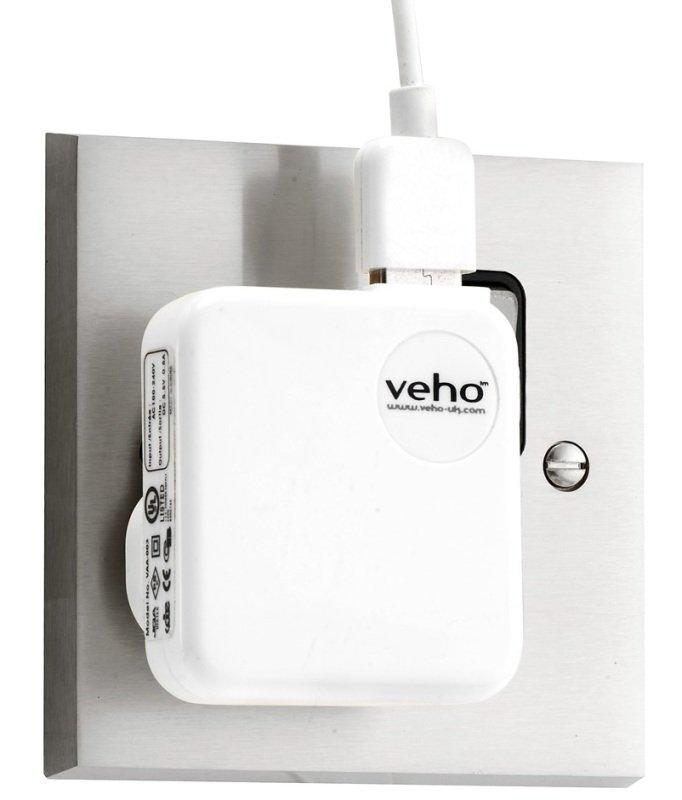 Veho VAA-003-WHT Universal USB iPod and iPhone UK Mains Plug Converter White
