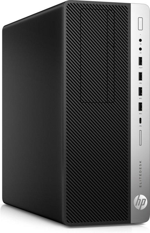 Image of HP EliteDesk 800 G4 TWR i7 256GB 1TB Desktop PC, Intel Core i7-8700 3.2GHz, 8GB DDR4, 256GB SSD, 1TB HDD, DVDRW, Intel UHD, Windows 10 Pro 64