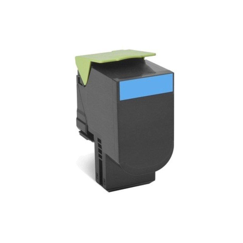 Lexmark 78C20C0 Cyan Return Programme Toner Cartridge