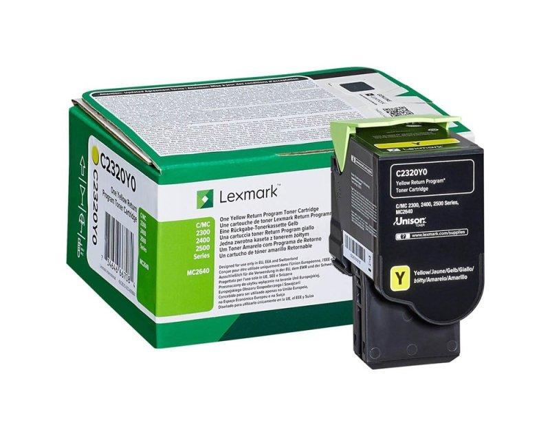 Lexmark C2320Y0 Yellow Return Programme Toner Cartridge