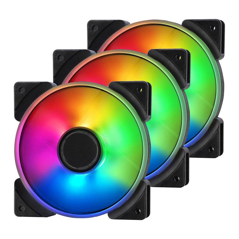 Fractal Design Addressable RGB Prisma AL-12 120mm Cooling Fans - Triple Pack