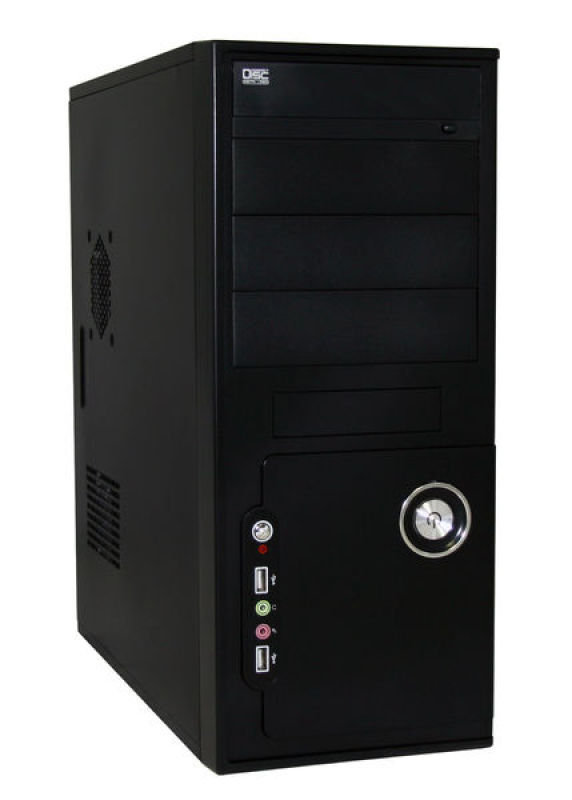 Image of CIT Black Case with 500W PSU - 20+4pin 1x SATA