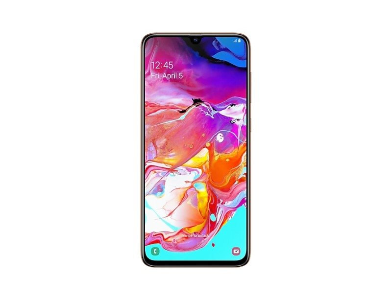 Image of Samsung Galaxy A70 128GB Smartphone - Coral