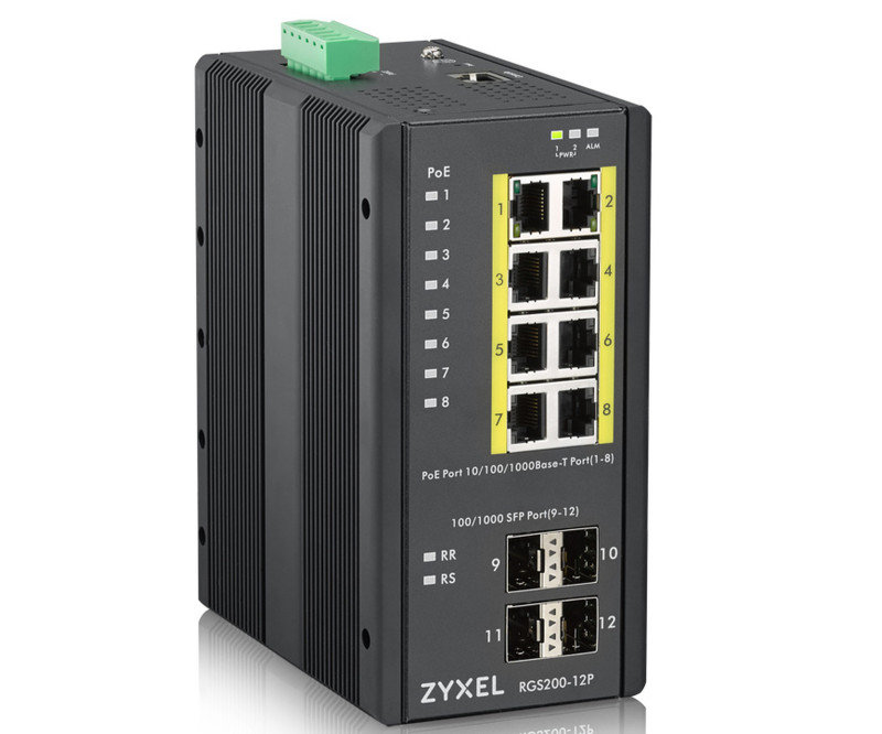 Zyxel RGS200-12P 12-port Managed PoE Switch