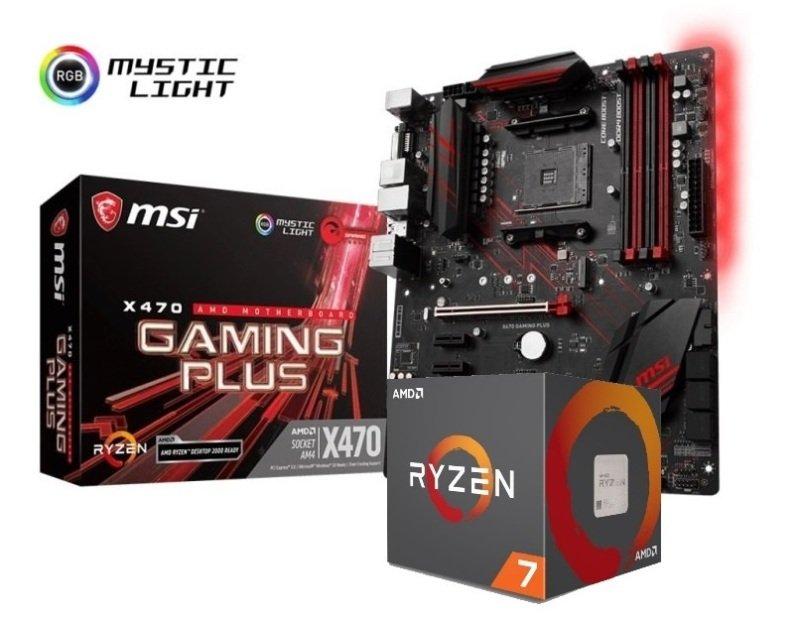 MSI X470 GAMING PLUS Motherboard with Ryzen 7 2700 Processor Bundle