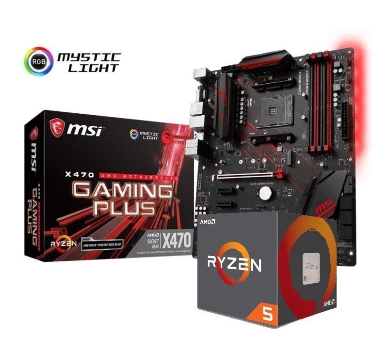 MSI X470 GAMING PLUS Motherboard with Ryzen 5 2600X Processor Bundle
