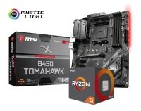 MSI B450 TOMAHAWK Motherboard with Ryzen 5 2600X Processor Bundle