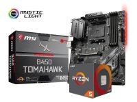 MSI B450 TOMAHAWK Motherboard with Ryzen 5 2600 Processor Bundle