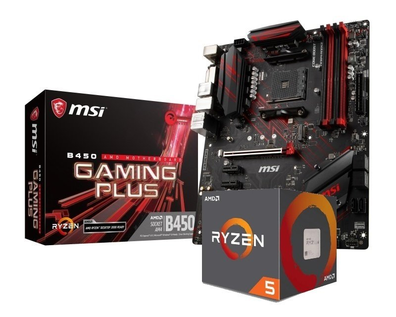 MSI B450 GAMING PLUS Motherboard with Ryzen 5 2600X Processor Bundle
