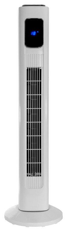"Vida 36"" Tower Fan Portable, Oscillating, 3 Speed, bladeless design, white"