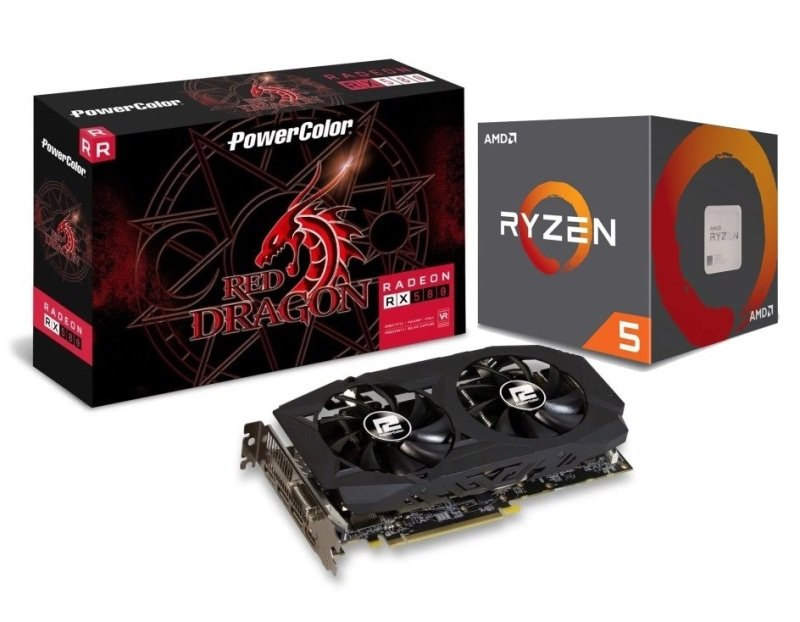 Powercolor AMD RX 580 Graphics Card with RYZEN 5 2600X Processor