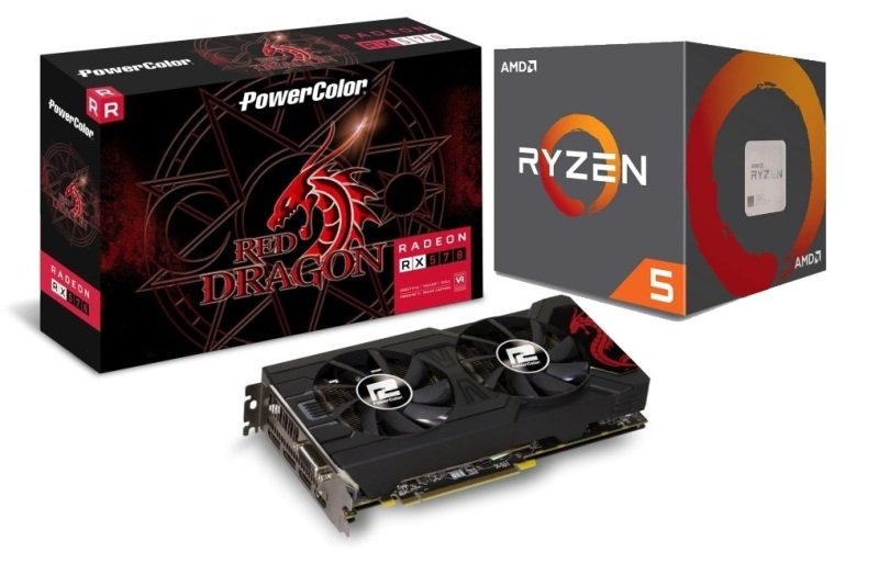 Powercolor AMD RX 570 Graphics Card with RYZEN 5 2600X Processor