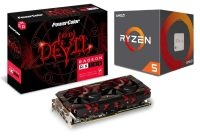 PowerColor AMD RX 580 Graphics Card with AMD Ryzen 5 2600X Processor Bundle