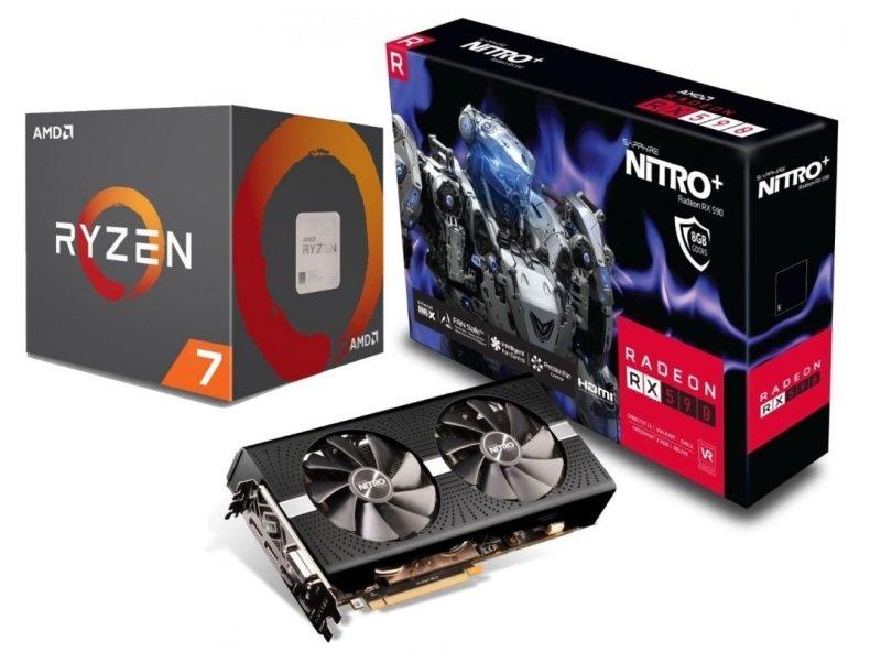 Sapphire Radeon RX 590 NITRO+ Graphics Card with AMD Ryzen 7 2700 Processor Bundle