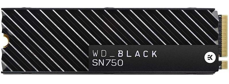 WD Black 500GB SN750 NVMe SSD with Heatsink