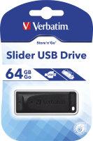 Verbatim Store N Go Slider Black 64GB USB Flash Drive