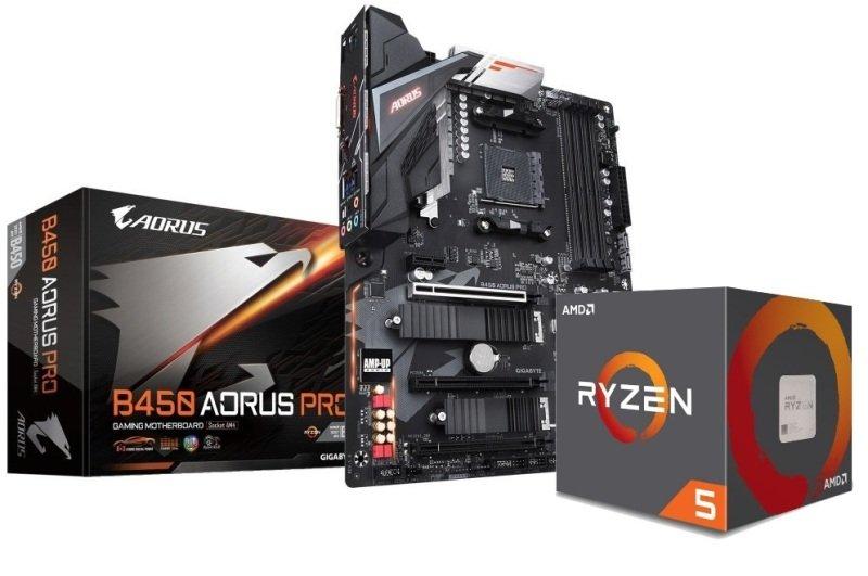 Gigabyte B450 AORUS PRO Motherboard with AMD Ryzen 5 2600