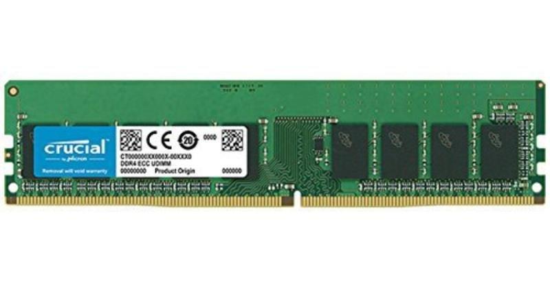 Crucial 16GB DDR4-2666 ECC UDIMM Memory Module