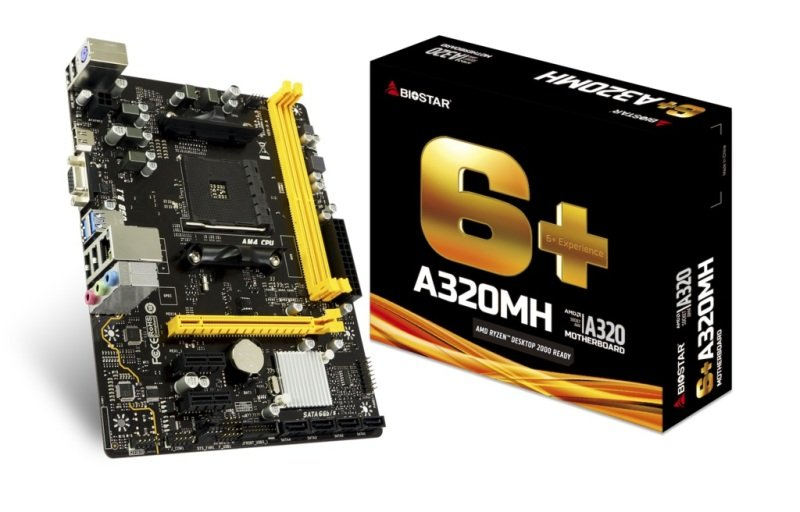 Biostar A320MH AM4 DDR4 mATX Motherboard