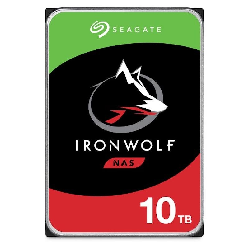 "Seagate IronWolf 10TB NAS Hard Drive 3.5"" 7200RPM 256MB Cache"