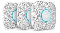 Google Nest Protect Smart Smoke and CO Alarm 3 Pack - Battery Powered