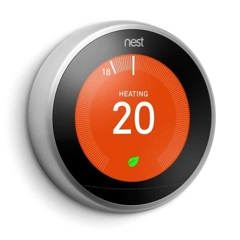 Image of Google Nest 3rd Gen Learning Thermostat - Stainless Steel