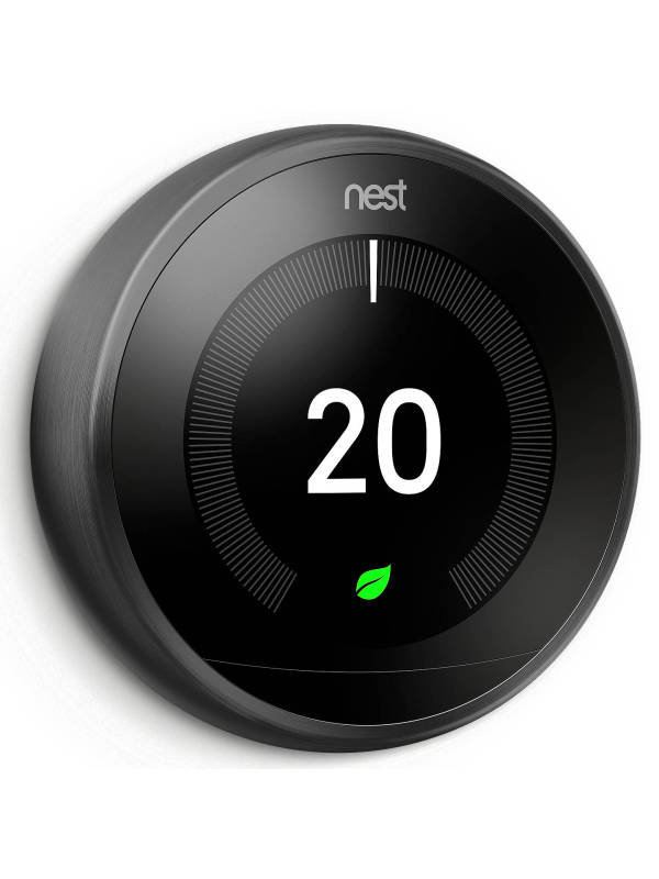 Image of Google Nest 3rd Gen Learning Thermostat - Black