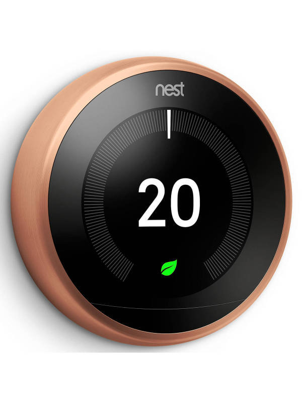 Image of Google Nest 3rd Gen Learning Thermostat - Copper
