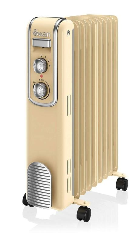 Swan SH60010CN 9 Finned Oil Filled Cream Radiator