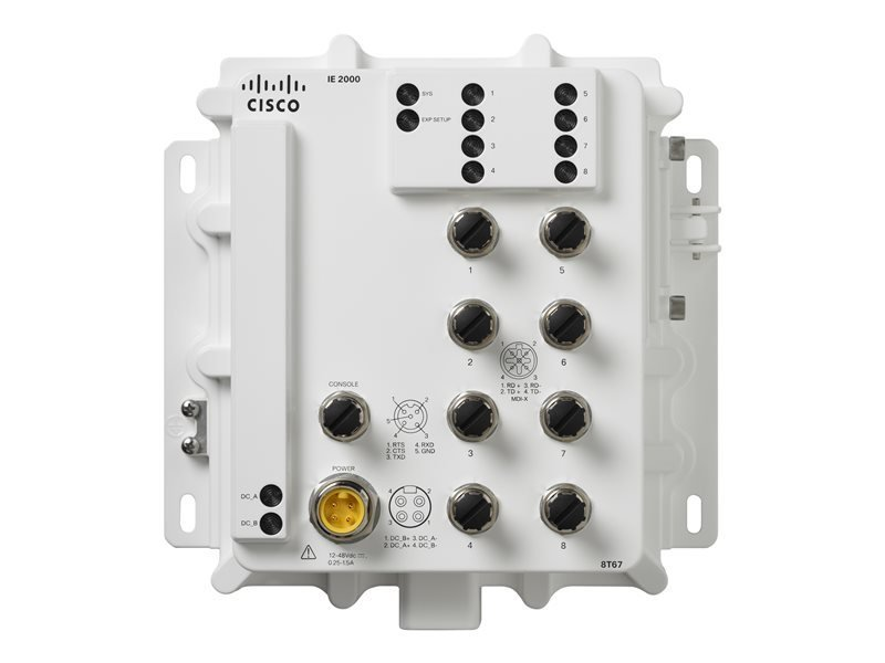 Cisco Industrial Ethernet 2000 IP67 Series 8 Ports Managed Switch