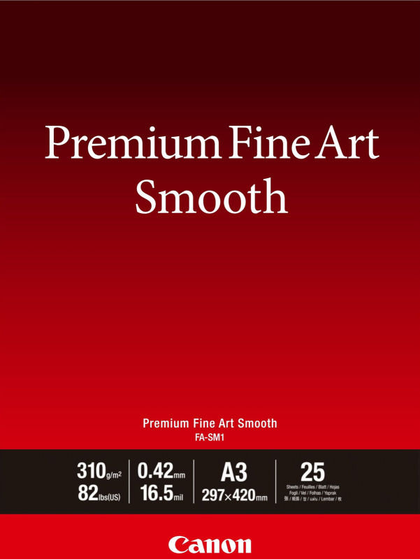 Canon Premium Fine Art Smooth A3 Paper (Pack of 25)