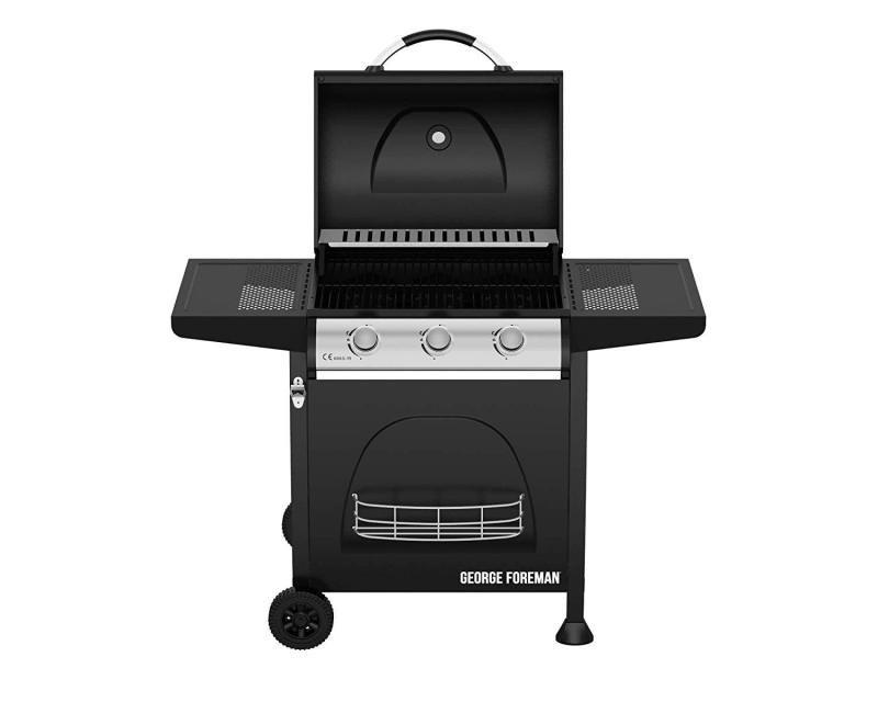 George Foreman GFGBBQ3B Black Gas BBQ