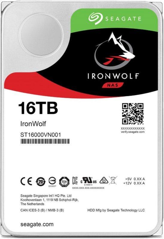 "Seagate IronWolf 16TB NAS Hard Drive 3.5"" SATA III 6GB's 7200RPM 256MB Cache"