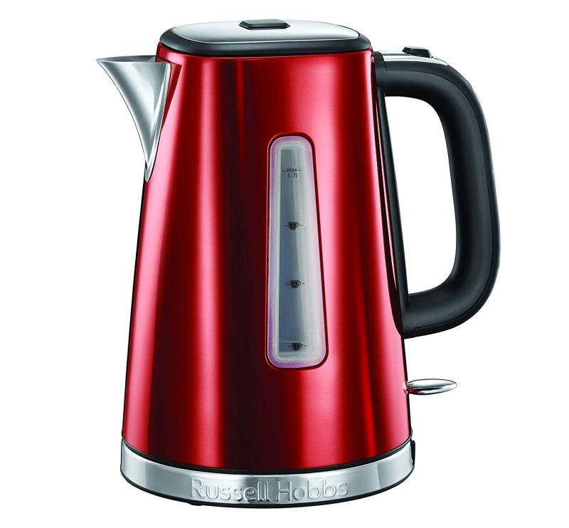 Image of Russell Hobbs 23210 Luna Quiet Boil Red Kettle