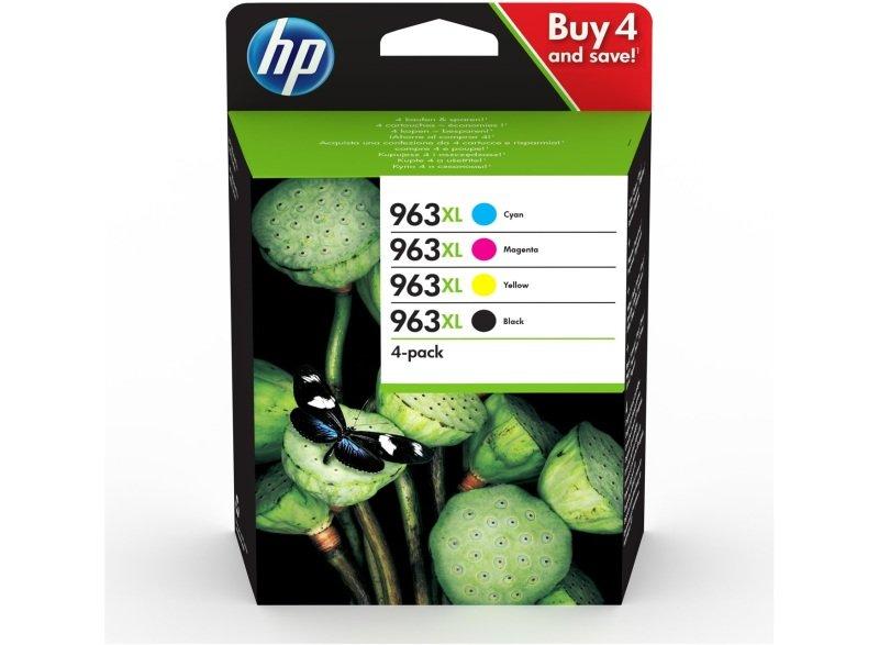 HP 963XL 4-pack High Yield Black/Cyan/Magenta/Yellow Original Ink Cartridges - 3YP35AE