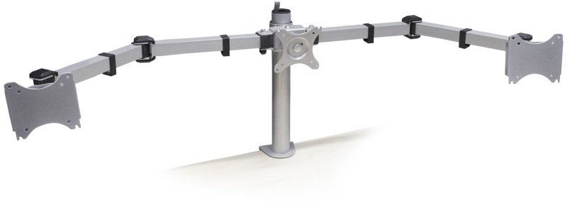 Desk-Mount Triple Monitor Arm - Articulating