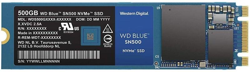 Western Digital Blue SN500 M 2 NVME 500GB SSD