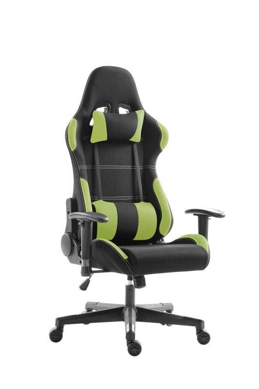 EG Premium Gaming Chair - Green and Black Fabric