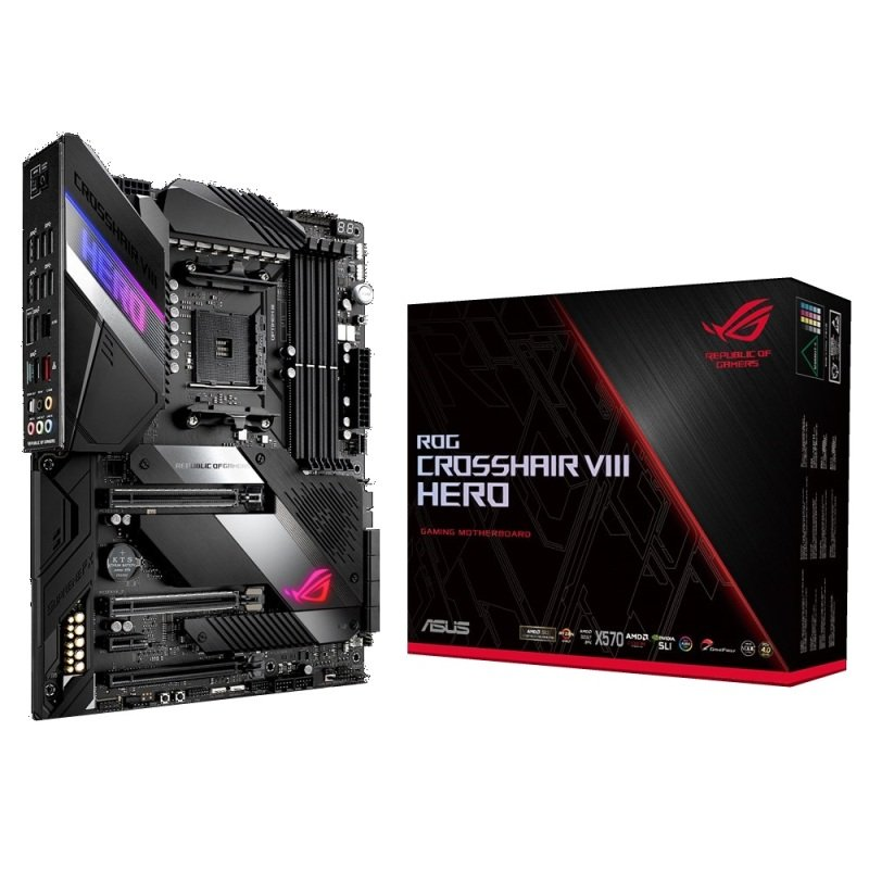 Asus X570 ROG CROSSHAIR VIII HERO AM4 DDR4 ATX Motherboard