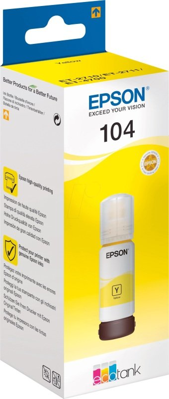 Epson 104 EcoTank Yellow Ink Bottle