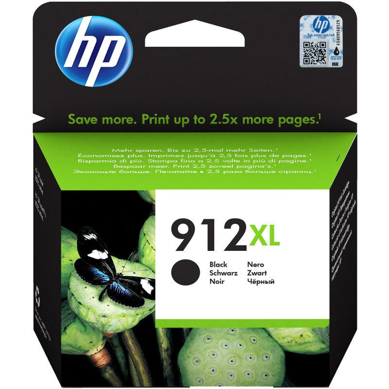HP 912XL High Yield Ink Cartridge Black 3YL84AE