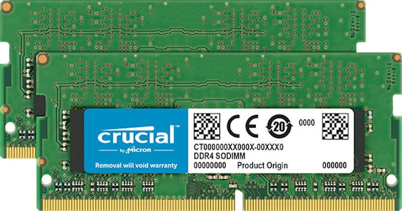 Crucial 8gb Kit (4gbx2) Ddr4 2666 Sodimm