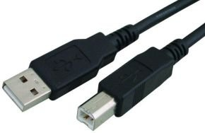 Xenta USB 2.0 A to B Black 3m Cable