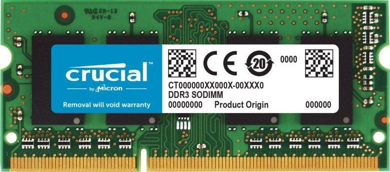 Crucial 4GB DDR3 1.35v 1600MHz Laptop Memory - CT51264BF160BJ