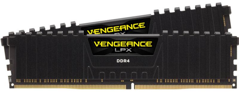Corsair Vengeance LPX 32GB (2 x 16GB) DDR4 DRAM 2400MHz C16 Memory Kit - Black
