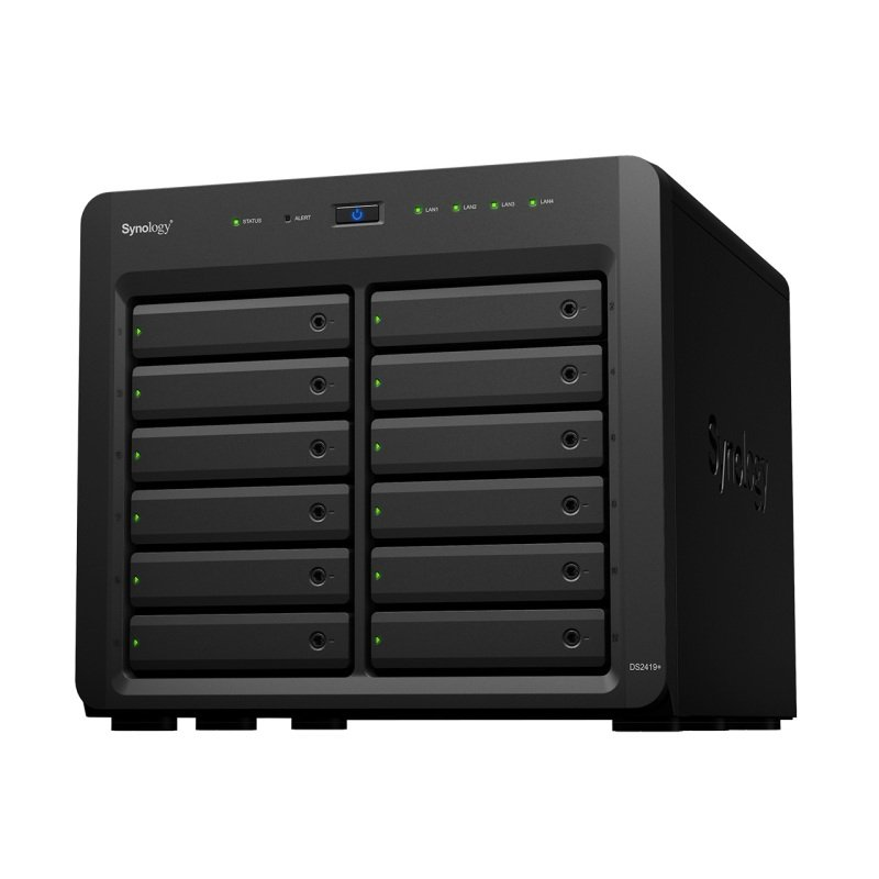 Synology DS2419+ 48TB (12 x 4TB SGT-EXOS) 12 Bay Desktop NAS Solution