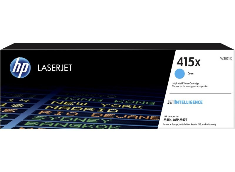 HP 415X High Yield Cyan Toner Cartridge W2031X