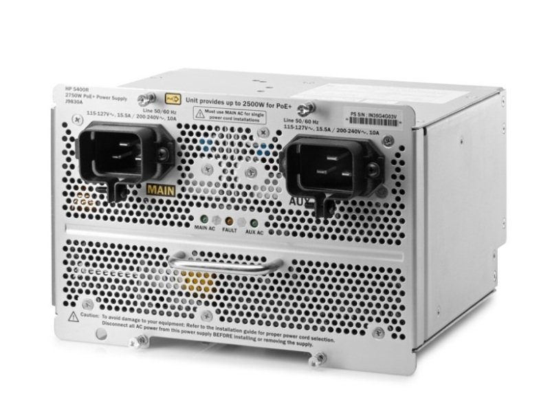 Image of Aruba 5400R 2750W PoE+ zl2 Power Supply