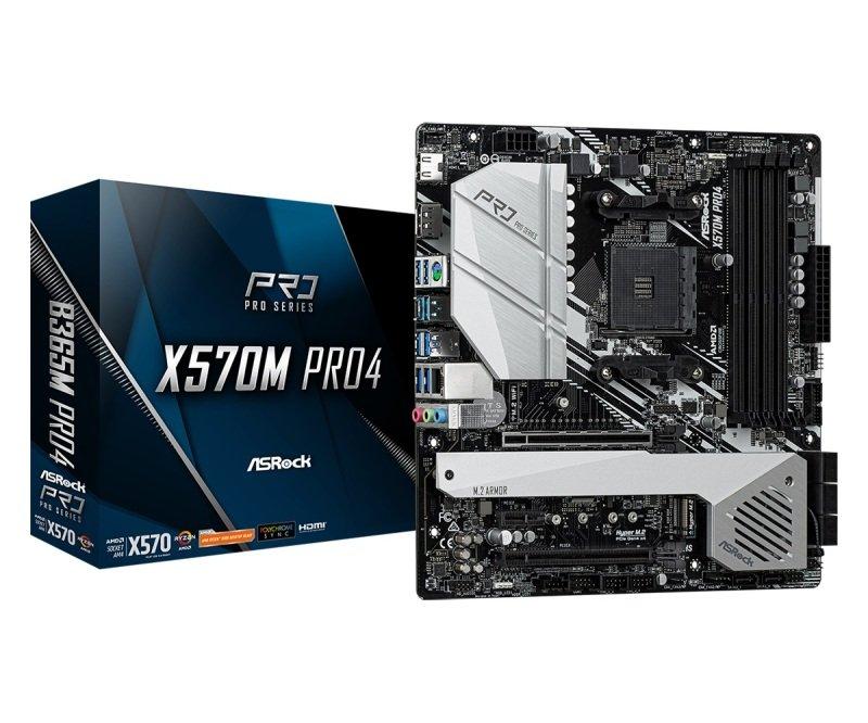 ASRock X570M Pro4 AM4 DDR4 mATX Motherboard